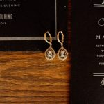 bridal earrings at Indianapolis wedding styled shoot