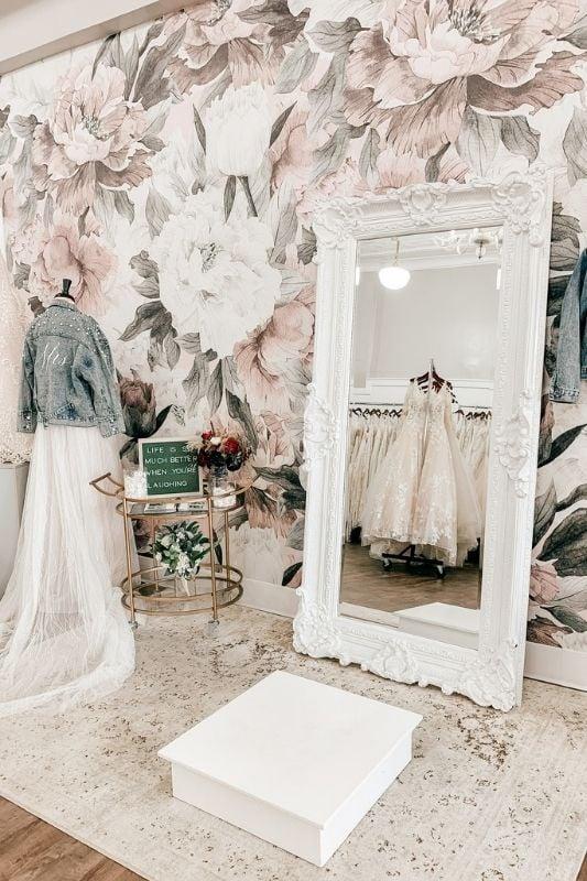 the beginning of the wedding dress shopping process