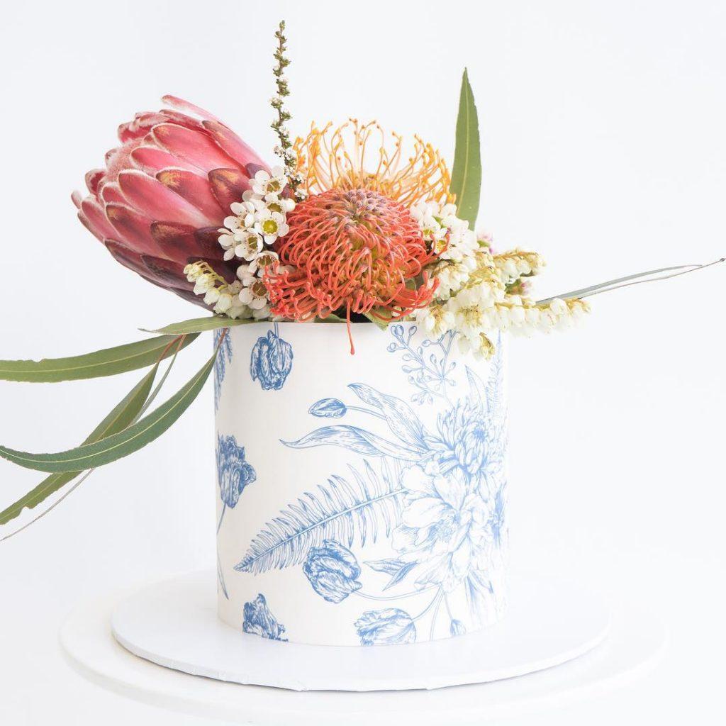 printed wedding day cakes