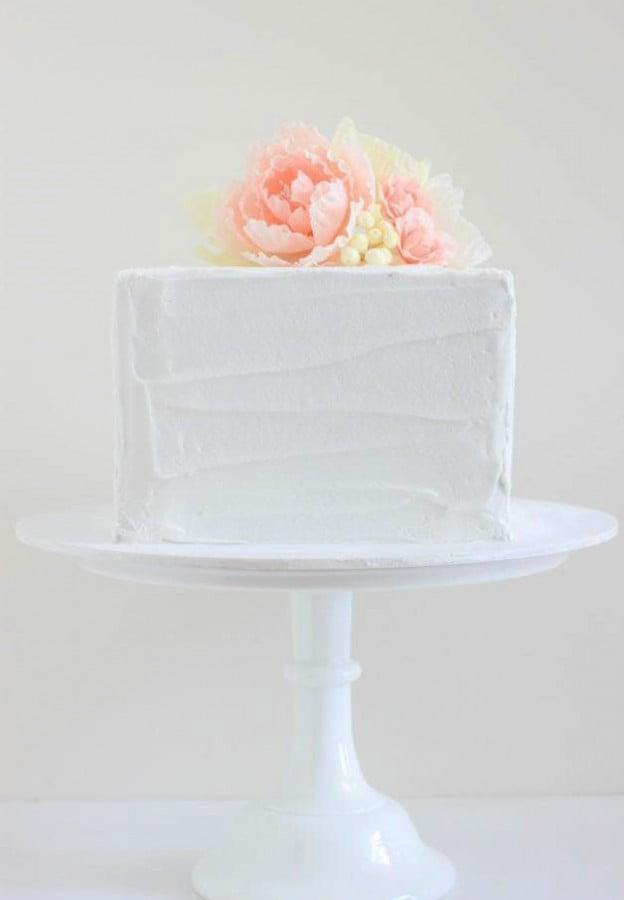 simple wedding day cake
