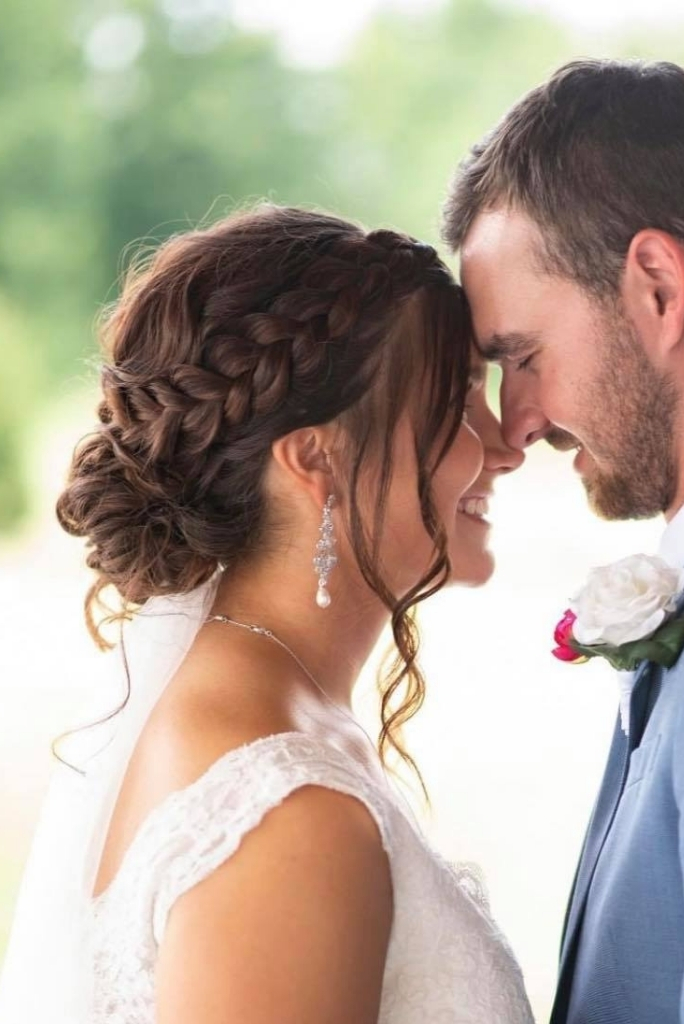 Crown Braid Wedding Day Hairstyles