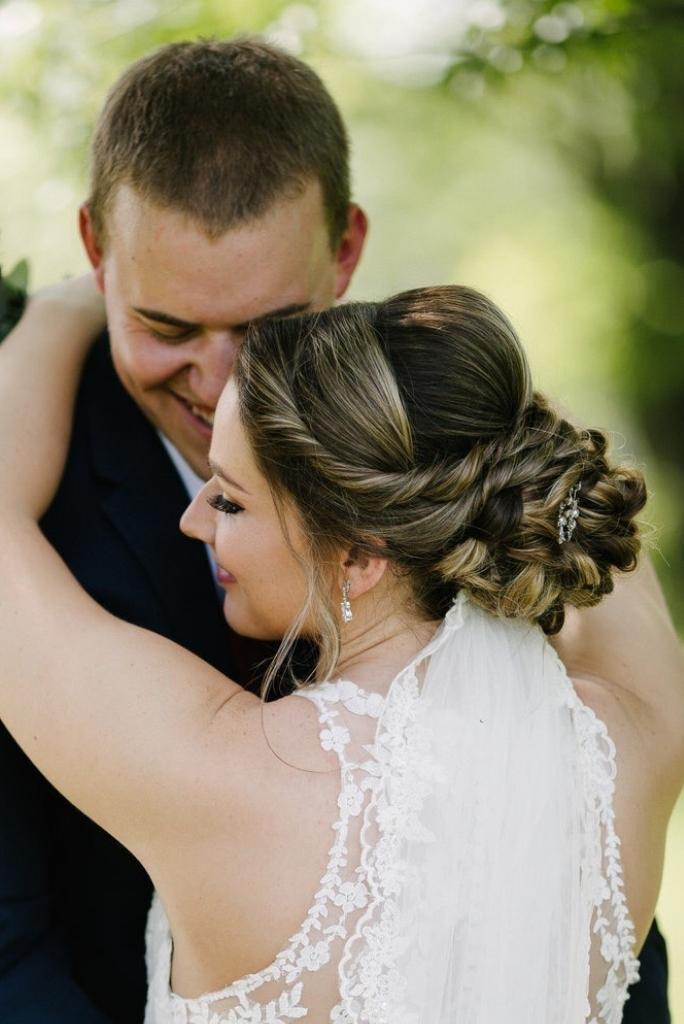 Textured Side Bun Wedding Day Hairstyles