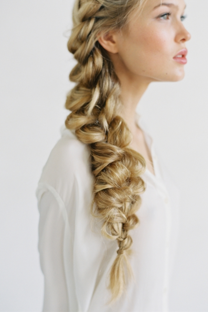 Side Braid Wedding Day Hairstyles