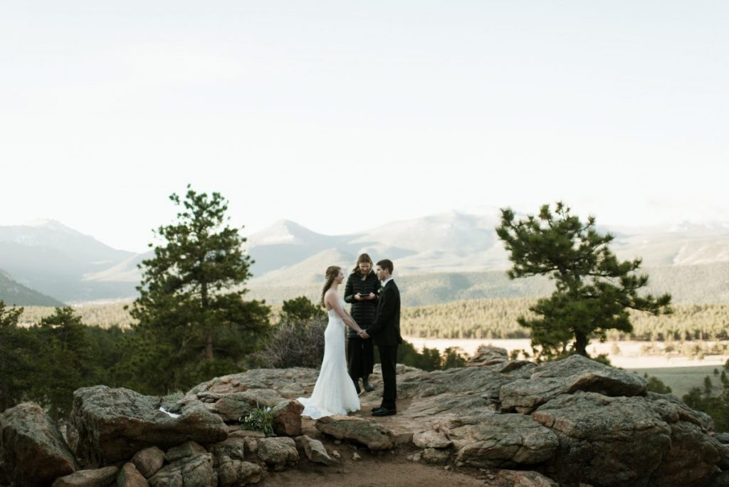 elopement on a mountain