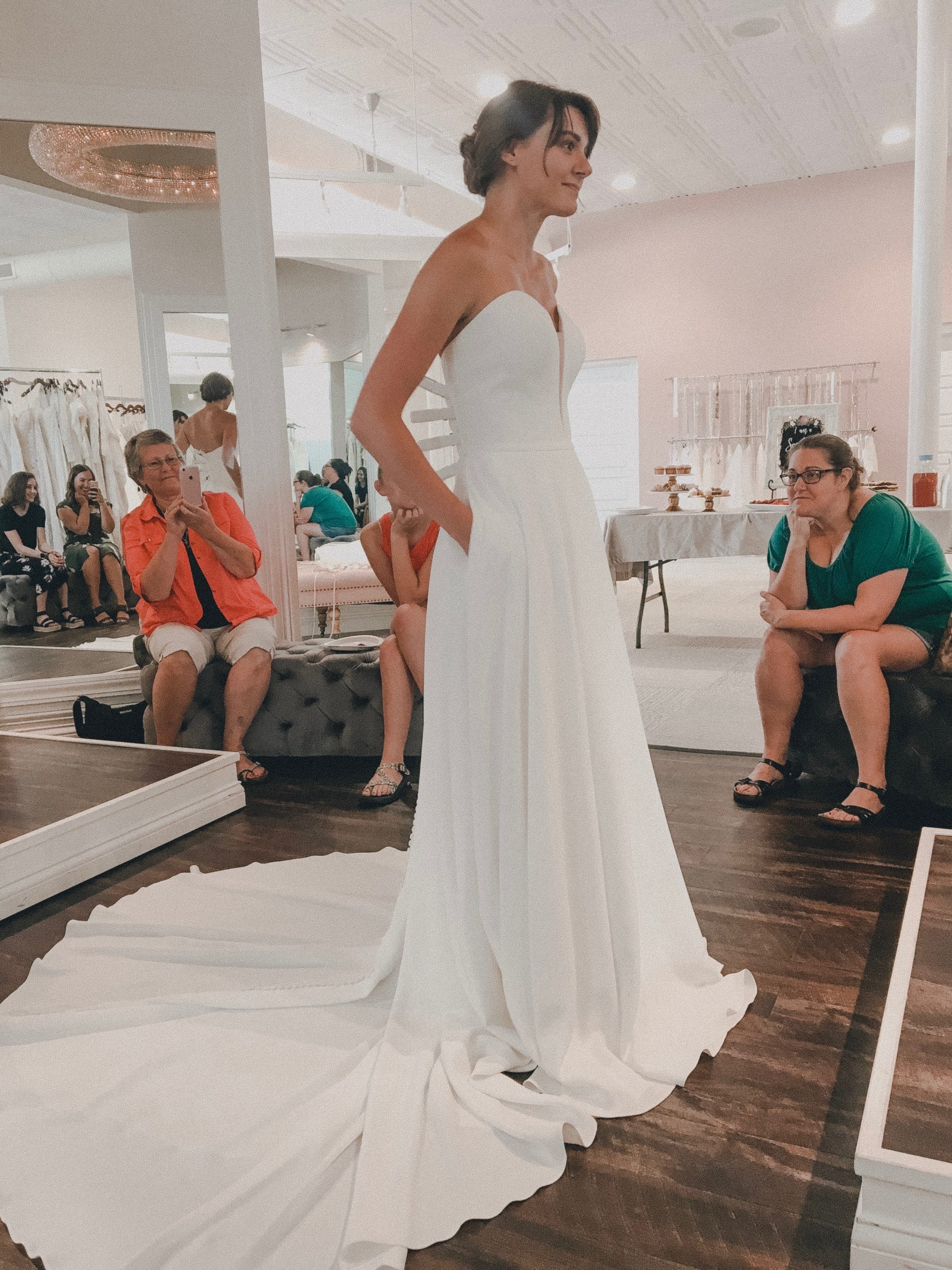 bride saying yes to her dress
