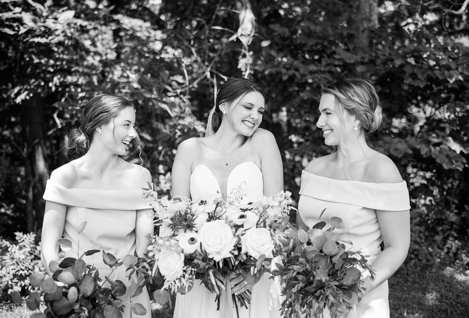 bridal party at a wedding