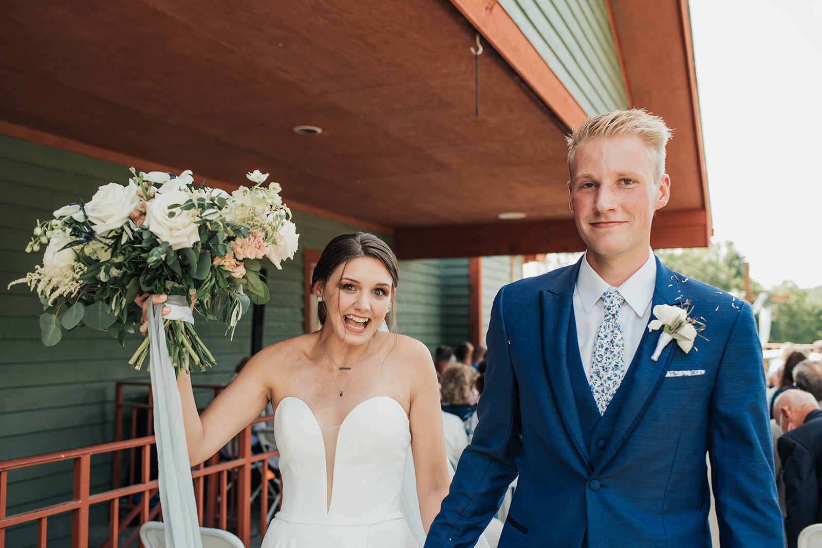bride and groom after getting married