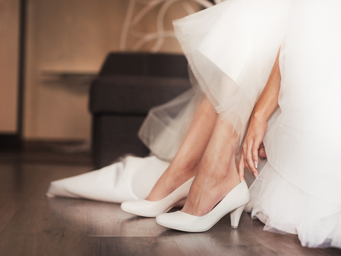 bring shoes to wedding dress alterations