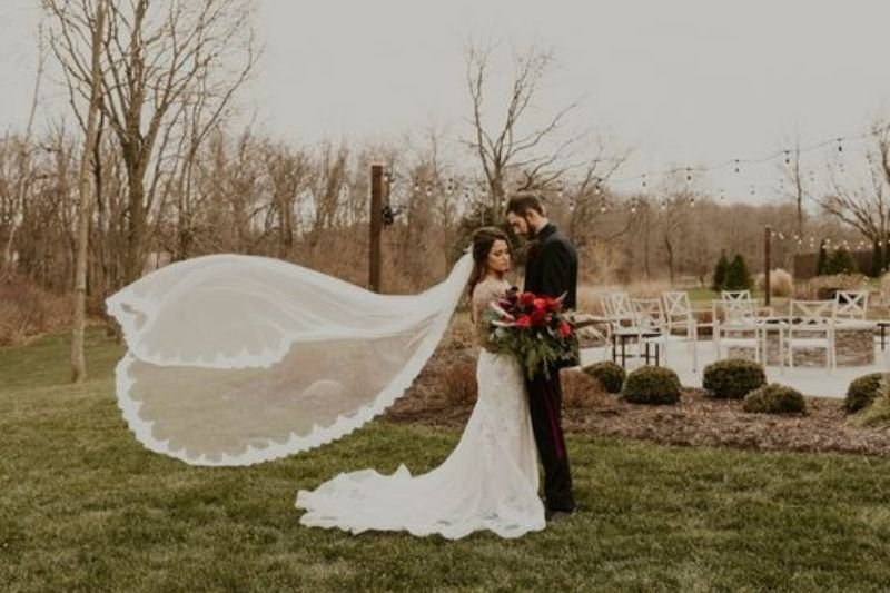 floating veil pic of a real bride
