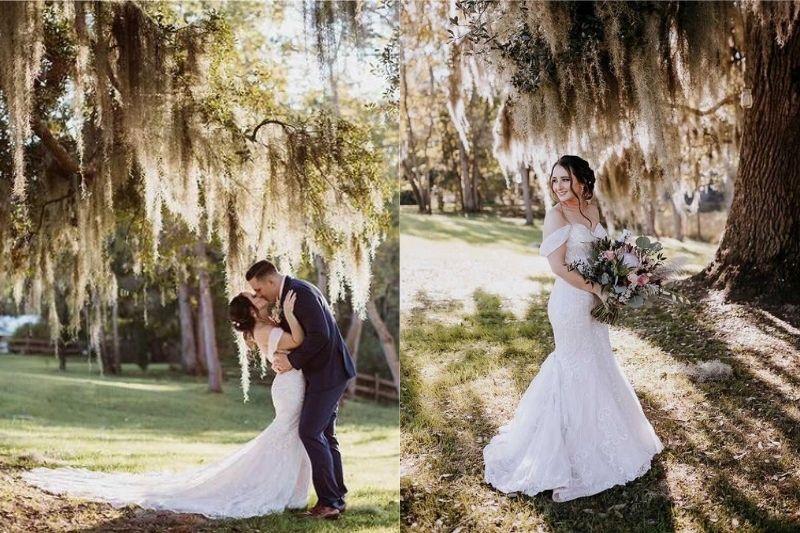 a bustle on a wedding dress vs. no bustle