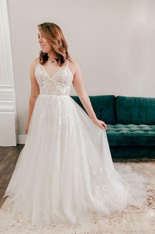 boho a-line wedding dress by watters