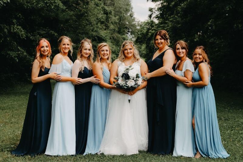 bride and bridesmaid party