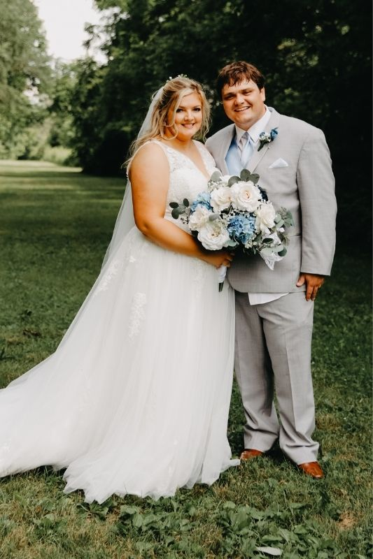 real bride Karlie and Drew on their wedding day