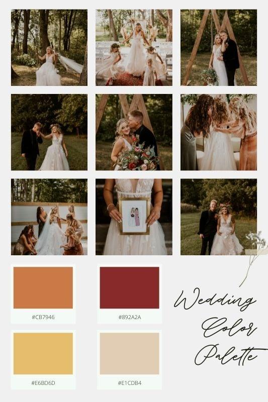 wedding color palette mood board