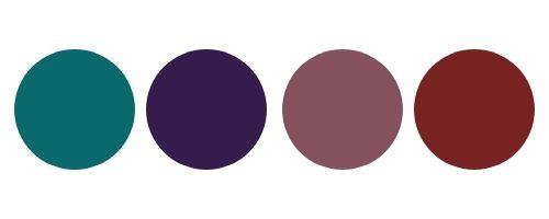 Color palette jewel tones